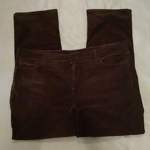 NYDJ chocolate brown straight leg cordoroy pants